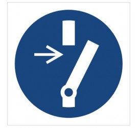 Znak odłącz przed przystąpieniem do konserwacji lub naprawy (M21)