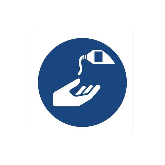 Znak nakaz stosowania kremu ochronnego (M22)