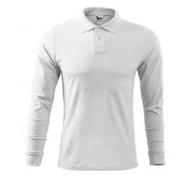 Koszulka polo Adler SINGLE J. LS 211 biała