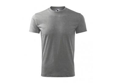T-shirt Adler CLASSIC 101 ciemnoszary melanż