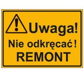 UWAGA! NIE ODKRĘCAĆ REMONT (319-30)
