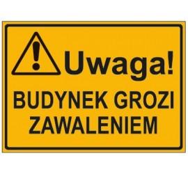 UWAGA! BUDYNEK GROZI ZAWALENIEM (319-70)